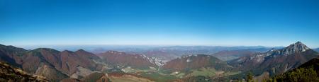 Mountain panorama in national nature reservation Mala Fatra, Slovak Republic