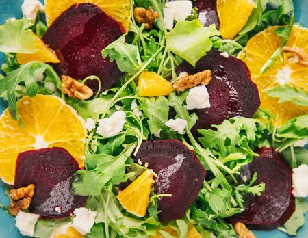 Fresh vegetarian salad with beetroot Reklamní fotografie