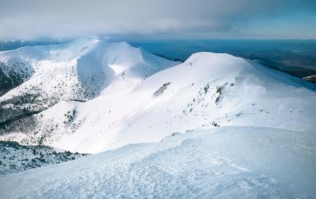 Snow range of Mala Fatra in Western Carpathians mountains landscape image.