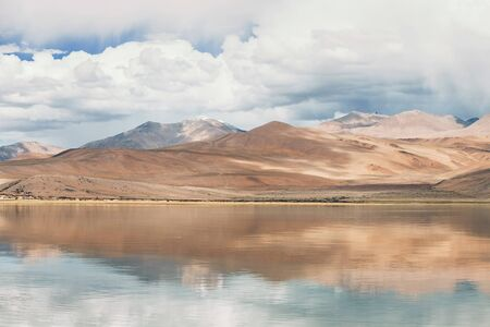 Himalayan mountains mirrored reflected