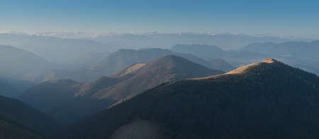 Mala Fatra mountain landscape view from Velky Rozsutec mountain, Slovak Republic