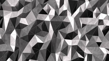 Silver mosaic background, 3d illustration Banco de Imagens - 97619047
