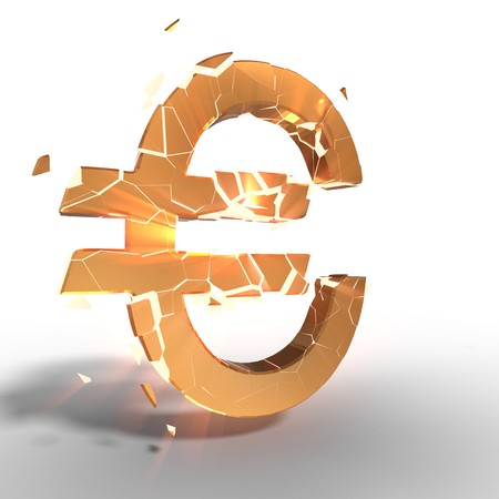 Euro icon of gold exploiting, 3d rendering Stok Fotoğraf
