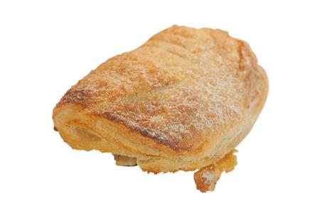 bap: tasty muffin on white background Stock Photo