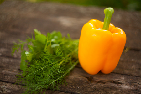delicious juicy sweet pepper on the table