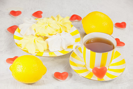 delicious delicious breakfast Valentines Day in a beautiful plate Stock Photo