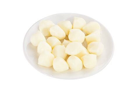 delicious fresh mozzarella on a white plate Stock Photo