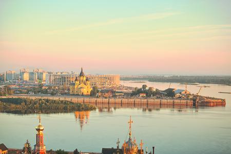landscape of Nizhniy Novgorod in Russia
