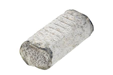 테이블에 흰색 배경에 흰 곰팡이와 신선한 브리 치즈 스톡 콘텐츠