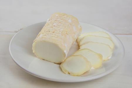 delicious fresh mozzarella on a white plate Reklamní fotografie
