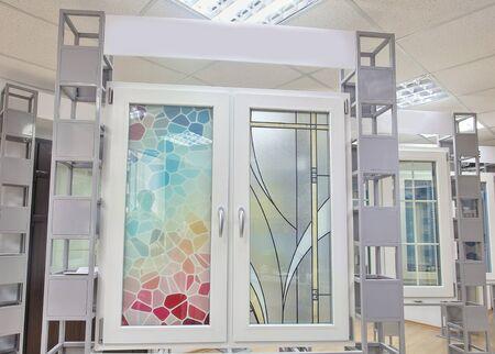 Photo of a beautiful plastic window in the studio