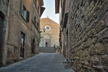 Beautiful Italian street of a small old provincial town Reklamní fotografie - 133774859
