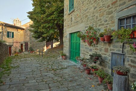 Beautiful Italian street of a small old provincial town Reklamní fotografie - 133774887