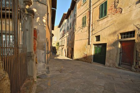 Beautiful Italian street of a small old provincial town Reklamní fotografie - 133774913