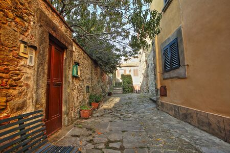 Beautiful Italian street of a small old provincial town Reklamní fotografie - 133774912