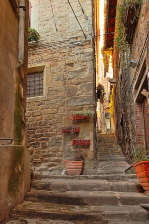 Beautiful Italian street of a small old provincial town Reklamní fotografie - 133774917