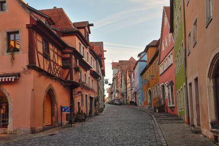 Beautiful Deutsch street of a rothenburg ob der tauber