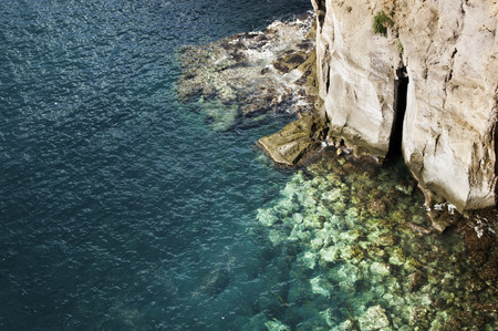 transparence: Rocks at the bottom of the Mediterranean sea Stock Photo