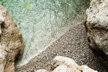 transparence: transparent water between rocks Stock Photo