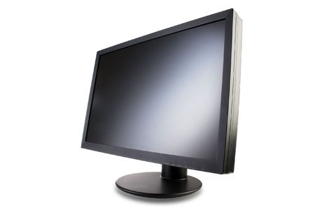black screen with a circular stand Stock Photo - 7790010