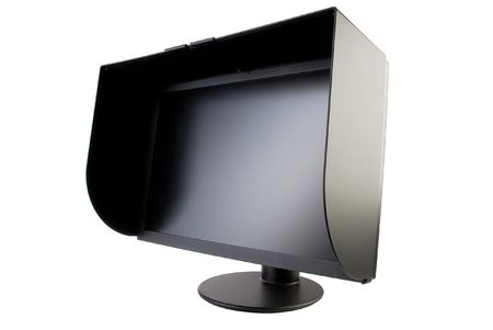 black matte monitor with a protective visor Stock Photo - 8146273