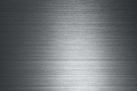 aluminum texture: silver texture metal with horizontal stripes Stock Photo