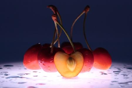 radiative: glowing in the dark berries Stock Photo