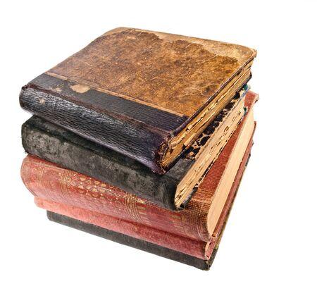 literatura: viejos libros antiguos de rayones y rayones Foto de archivo