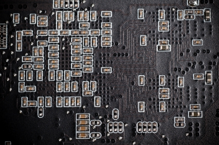 semiconductor components on a black background photo