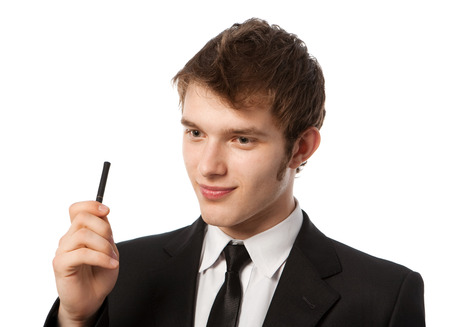 erectile: young business man in a suit erectile