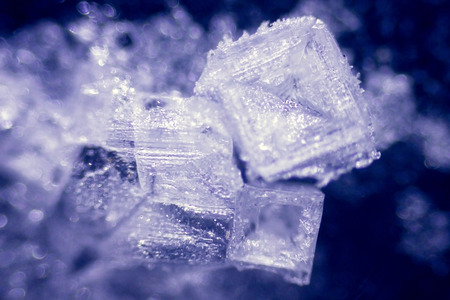 amazing salt crystals under the microscope Stock Photo