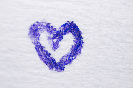heart under: painted blue marker heart under a microscope