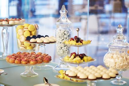 buffet cupcakes sweets marshmallow cake Stock Photo