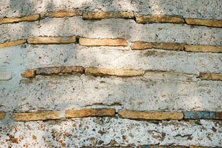texture of the old wall, ancient brickwork 写真素材