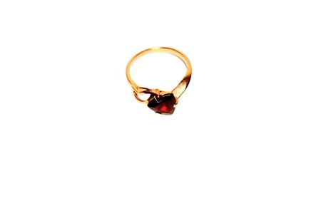 Goldring mit rotem stein  Gold-Ring Mit Rotem Stein. Isolieren Lizenzfreie Fotos, Bilder Und ...