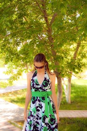 A woman in sunglasses