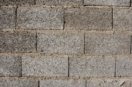 Masonry block wall Stock Photo