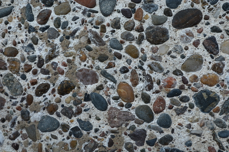 Pebble concrete wall Stock Photo