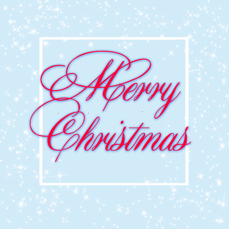 greeting card with wishes for a happy christmas
