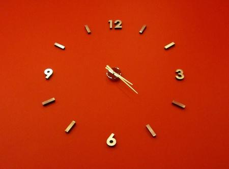 red clock Stock Photo