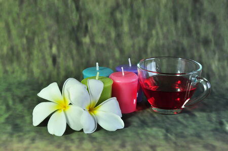 candle and sweet water photo
