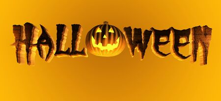 3d scary: Halloween Pumpkin Title