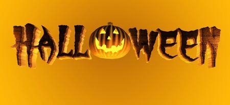 3d halloween: Halloween Pumpkin Title