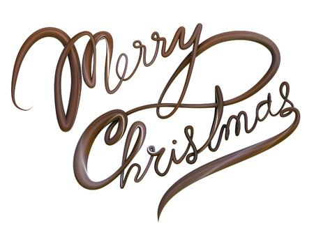 chocolate mask: Merry Christmas Chocolate Stock Photo
