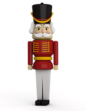 Christmas Nutcracker Soldier Stock Photo