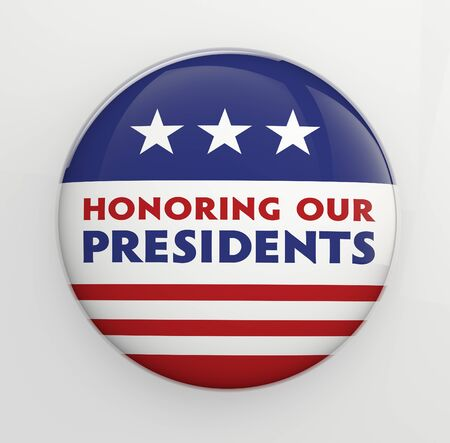 presidents day: Presidents Day badge with clipping path for easy selection  Stock Photo
