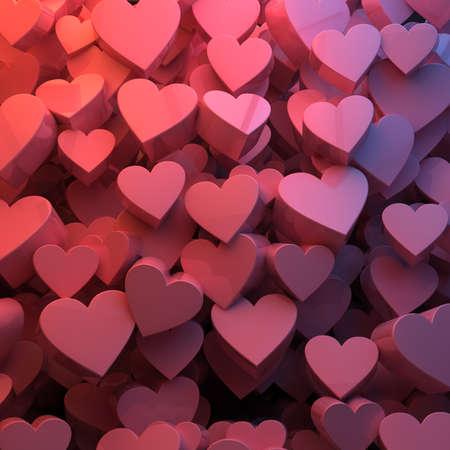 Valentine Hearts background texture Stock Photo - 16822081