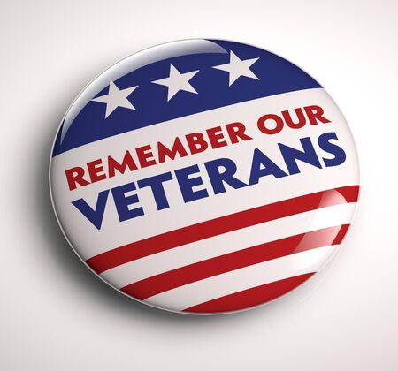 Veterans Day Badge Stock Photo