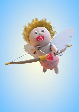 Cupid 3D character design Stock Photo