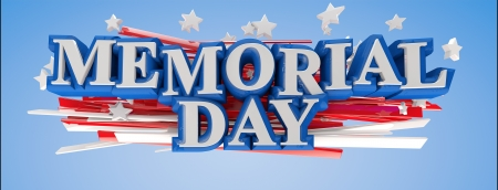 US Memorial Day 3D text